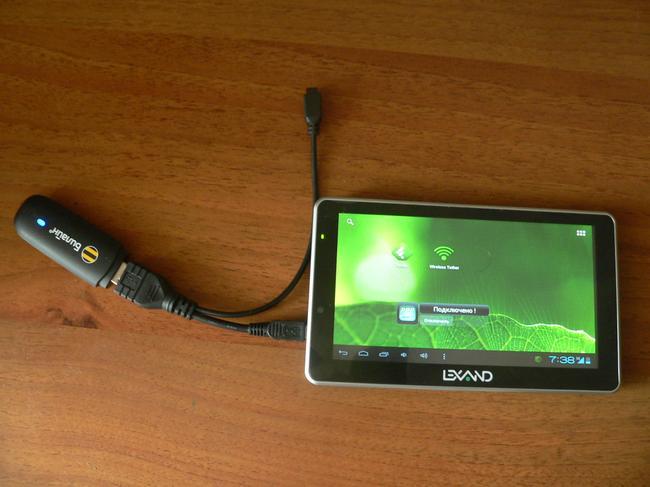 Для подключения потребуется специальный кабель (OTG)