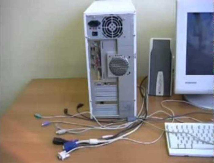 Отключаем от системного блока все внешние устройства и кабели